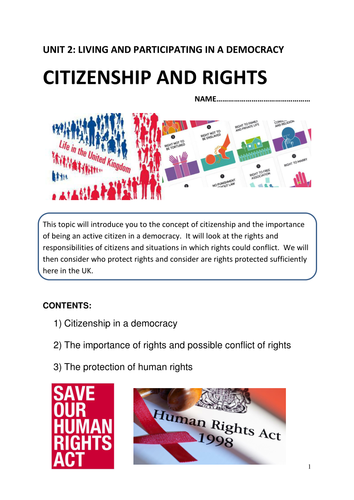 WJEC 2017 AS Unit 2 Citizenship and rights