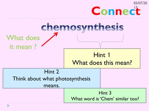 Chemosynthesis KS3