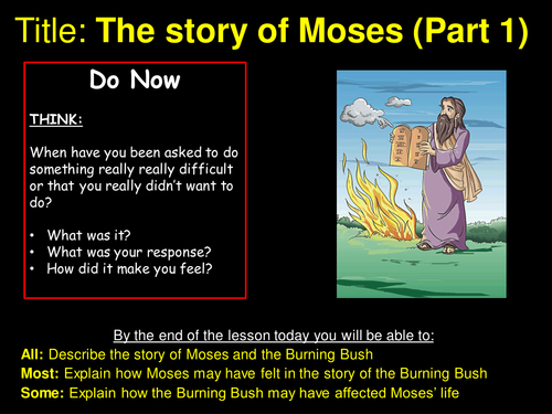 Moses - The story of Moses (Part 1) - Outstanding Lesson