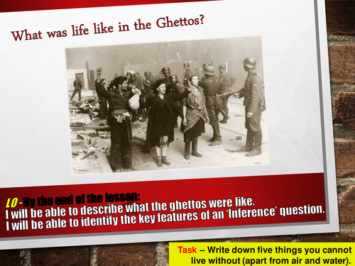 What was life like in the Ghetto?