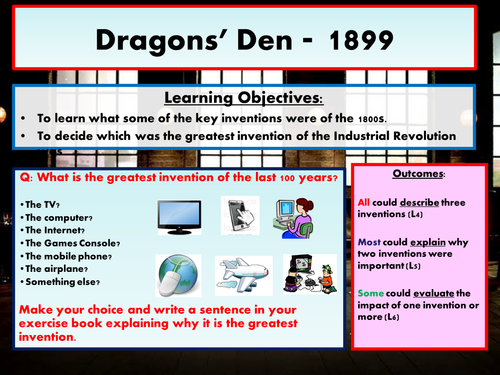 Dragons' Den 1899 - Best inventions of the Industrial Revolution