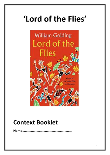 Context Booklet for 'Lord of the Flies' by William Golding