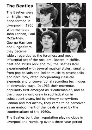 The Beatles Handout