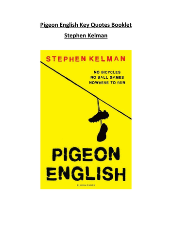 Pigeon English Key Quotes Booklet