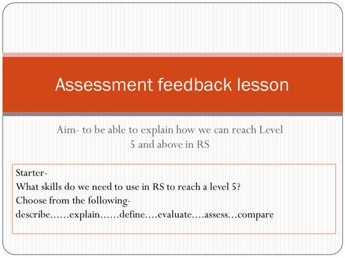 Assessment feedback Level 5 skills