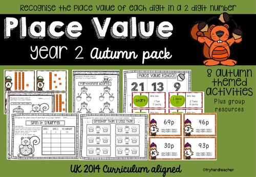 Yr2 Place Value Autumn Pack UK Curriculum 2014