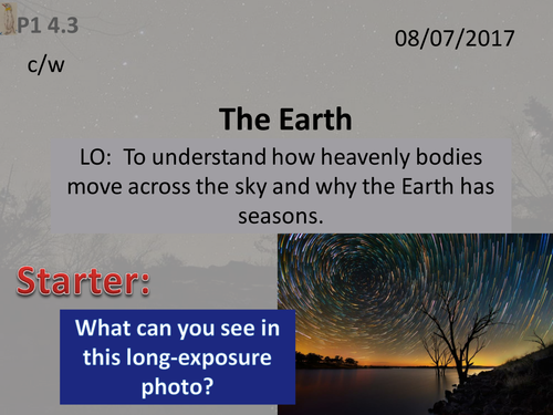 Activate 1: P1:  4.3  The Earth