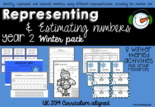 Yr2 Representing and Estimating Number Winter Pack UK Curriculum