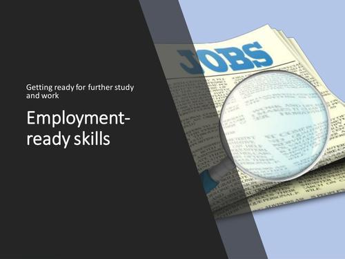 Employment ready skills