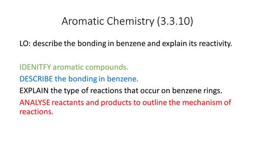 Aromatic Chemistry (Benzene) (AQA New Spec 3.3.10)