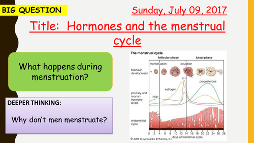 AQA new specification-Hormones and the menstrual cycle-B11.6