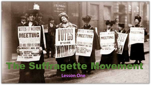 The Suffragette Movement - Whole Unit with Assessment scaffolding