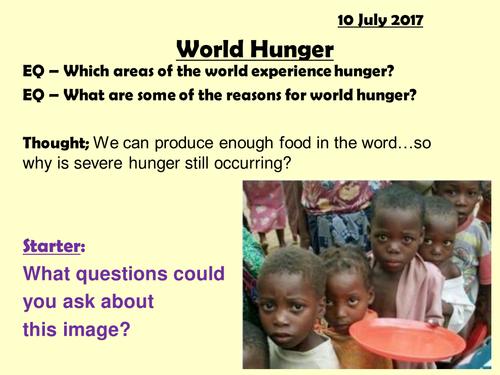 World Hunger - single lesson (1hr)