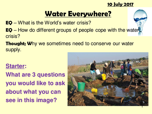 Water Crisis (single lesson 1hr)