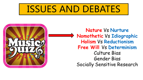 AQA A- Level psychology Idiographic and Nomothetic debate