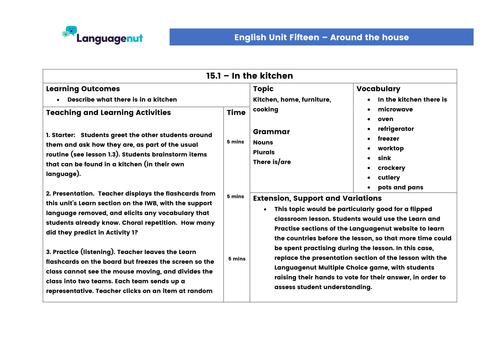Languagenut Lesson Plans & Resources - English / General