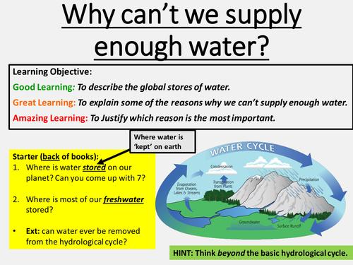 New OCR B GCSE - Water Security