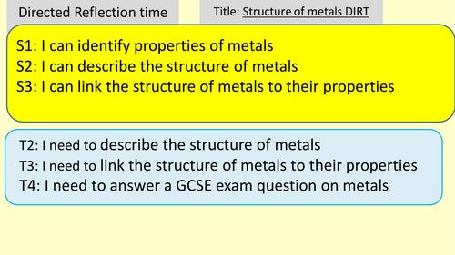Reactions of metals and acids