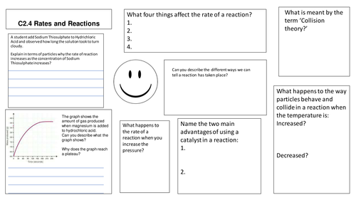 AQA C2.4 Rates of Reaction Assessment