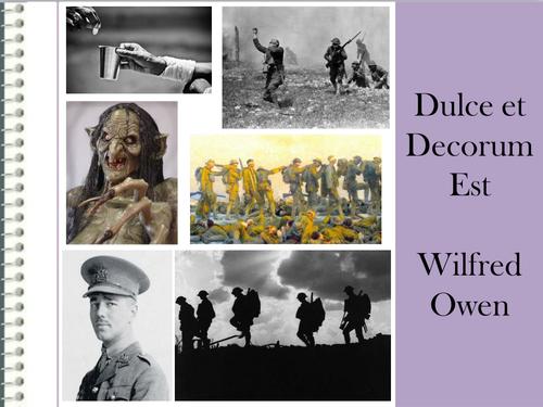 Dulce et Decorum Est Lesson
