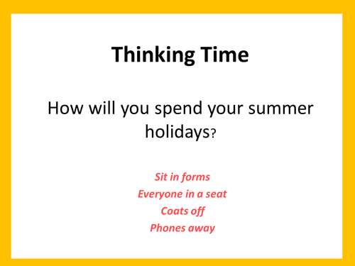 Summer Holidays end of year assembly + update