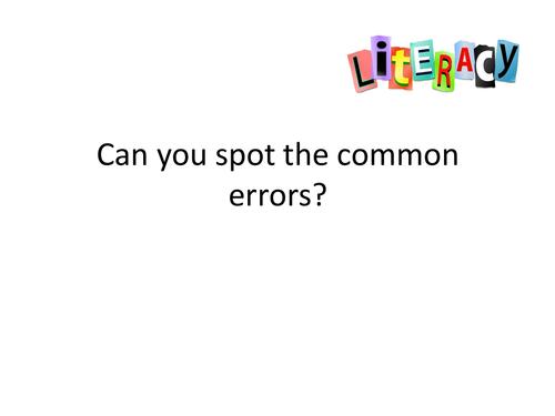 10 common literacy errors