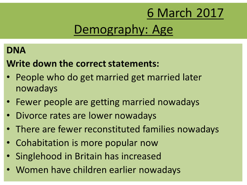 Sociology H580 / H180 Demography: Age