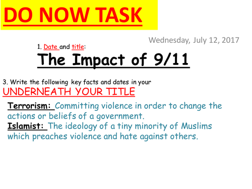 """""""Did the Terrorists win?"""" Source-Based 9/11 Impact Lesson"""