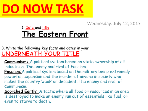 """""""How did the Soviets turn the tide?"""" Source-based lesson on the WWII Eastern Front"""