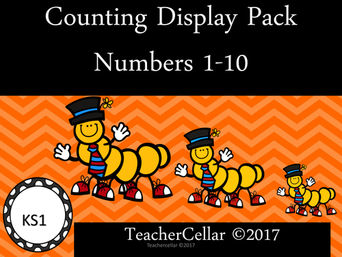 Numbers 1-10 Classroom Display Pack (Theme Caterpillars)