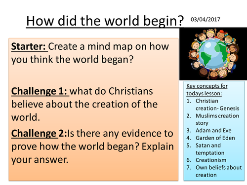 How did the world begin?