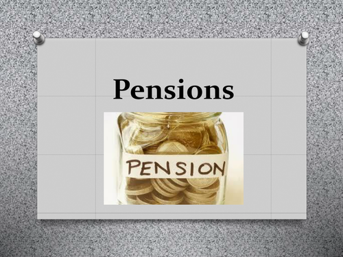 6th form tutor activity on pensions