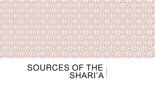 Theme 1 Figures and Text Sources of Shari'ah A2