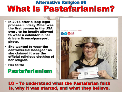 Pastafarianism - Church of the Flying Spaghetti Monster