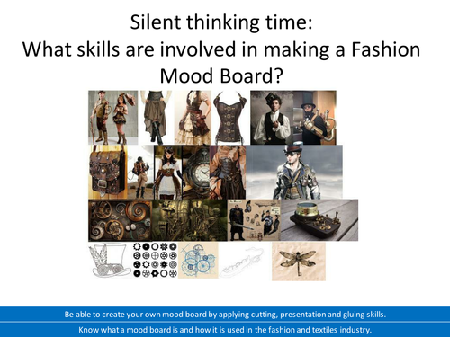 AQA Fashion and Textiles Technical Award Unit 1 Project 1 Mood Boards