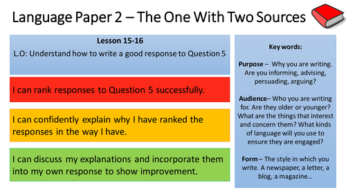 English Language Paper 2 Scheme of Learning