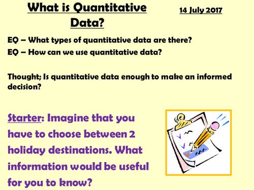 Quantitative and Qualitative Data (includes 2 research projects)