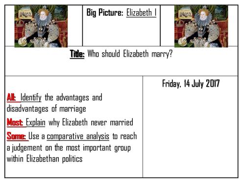 AQA 8145 Elizabeth I - The issue of marriage