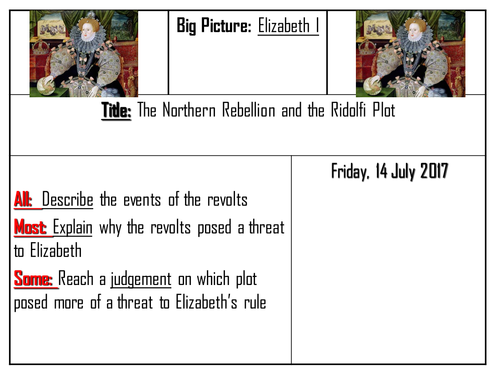 AQA 8145 Elizabeth I - The Norfolk Rebellions