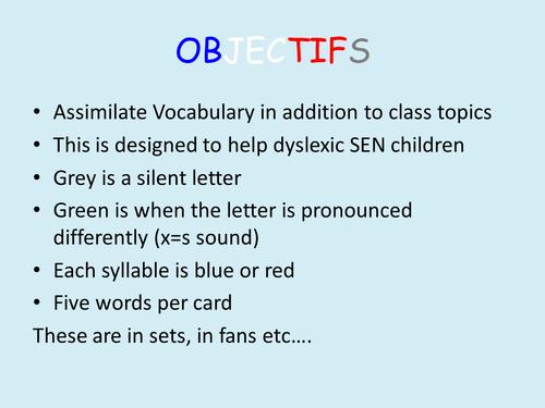 Secondary dyslexia resources