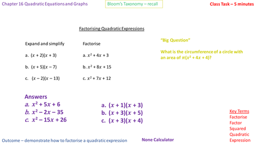 16.4b - Factorising into (x - a)(x - b)