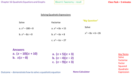 16.5b - Solving equations of the form x^2 + bx + c = 0