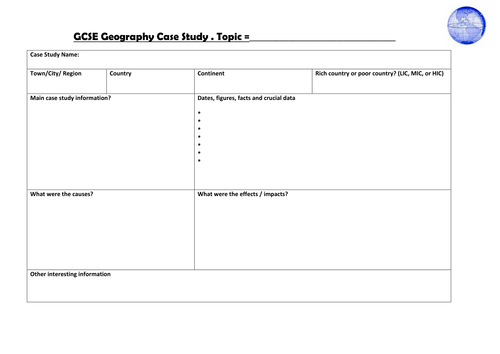 Case study template gcse by alisoncarrie teaching resources tes maxwellsz