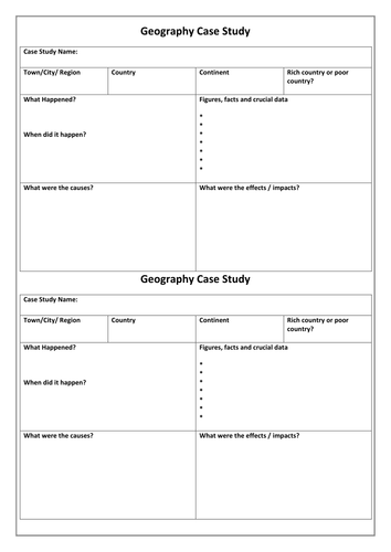Case study template ks3 by alisoncarrie teaching resources tes maxwellsz