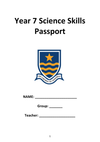 Science Skills Passport