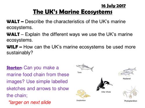 EDEXCEL A; ECOSYSTEMS; The UK's Marine Ecosystems