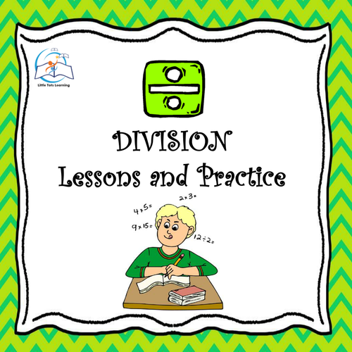 Whiteboard 3rd Grade Division - Lessons and Practice