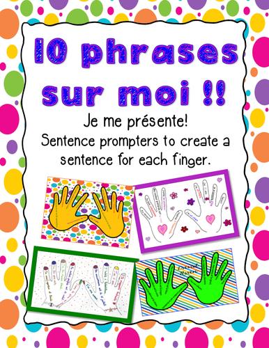 10 Phrases Sur Moi! Je me présente! Activité pour la rentrée