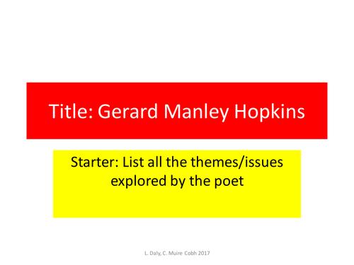 Gerard Manley Hopkins Revision Leaving Certificate
