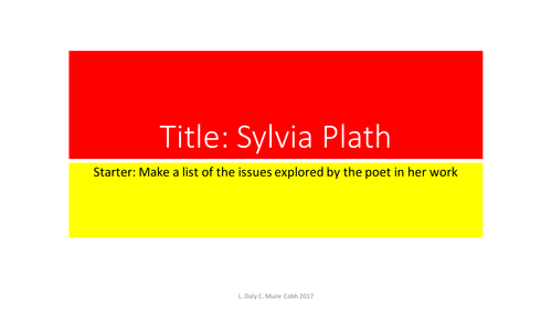 Sylvia Plath Revision Leaving Certificate English